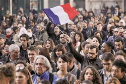 French solidarity on the streets